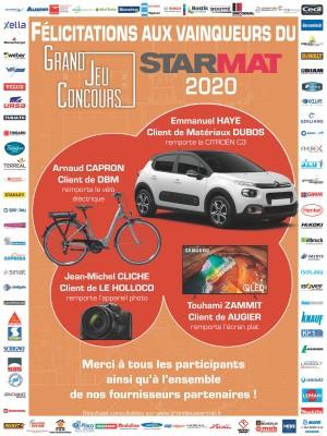 Découvrez les résultats du grand jeu concours STARMAT 2020