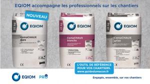 La gamme de chaux EQIOM Pro se renouvelle !