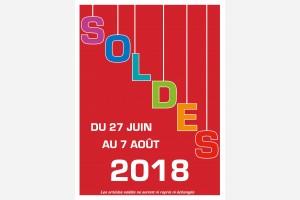 Soldes d'été du 27 juin au 7 août 2018